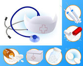 Medycyna ikony — Wektor stockowy