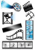 Movie_objects — Stock Vector