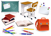 School objects — Stockvector