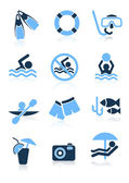 Swimming sport icons — Stock Vector
