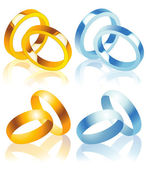 Wedding_rings — Stock Vector
