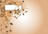 Brown flower frame — Vetorial Stock