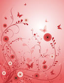 Rose flower vector background — Vecteur