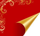 Turn over luxury golden paper — Stock Vector
