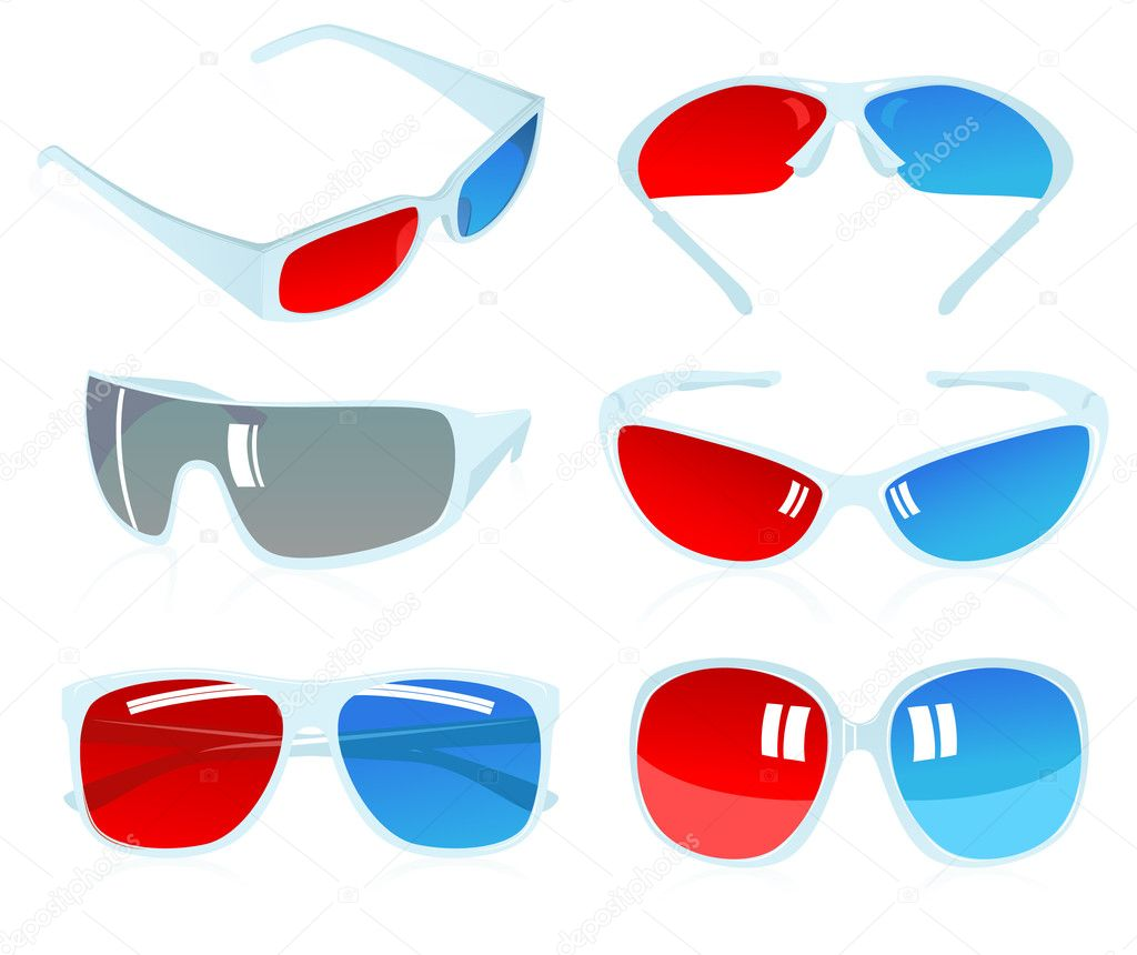 3D glasses — Stock Vector © alegria #3744967