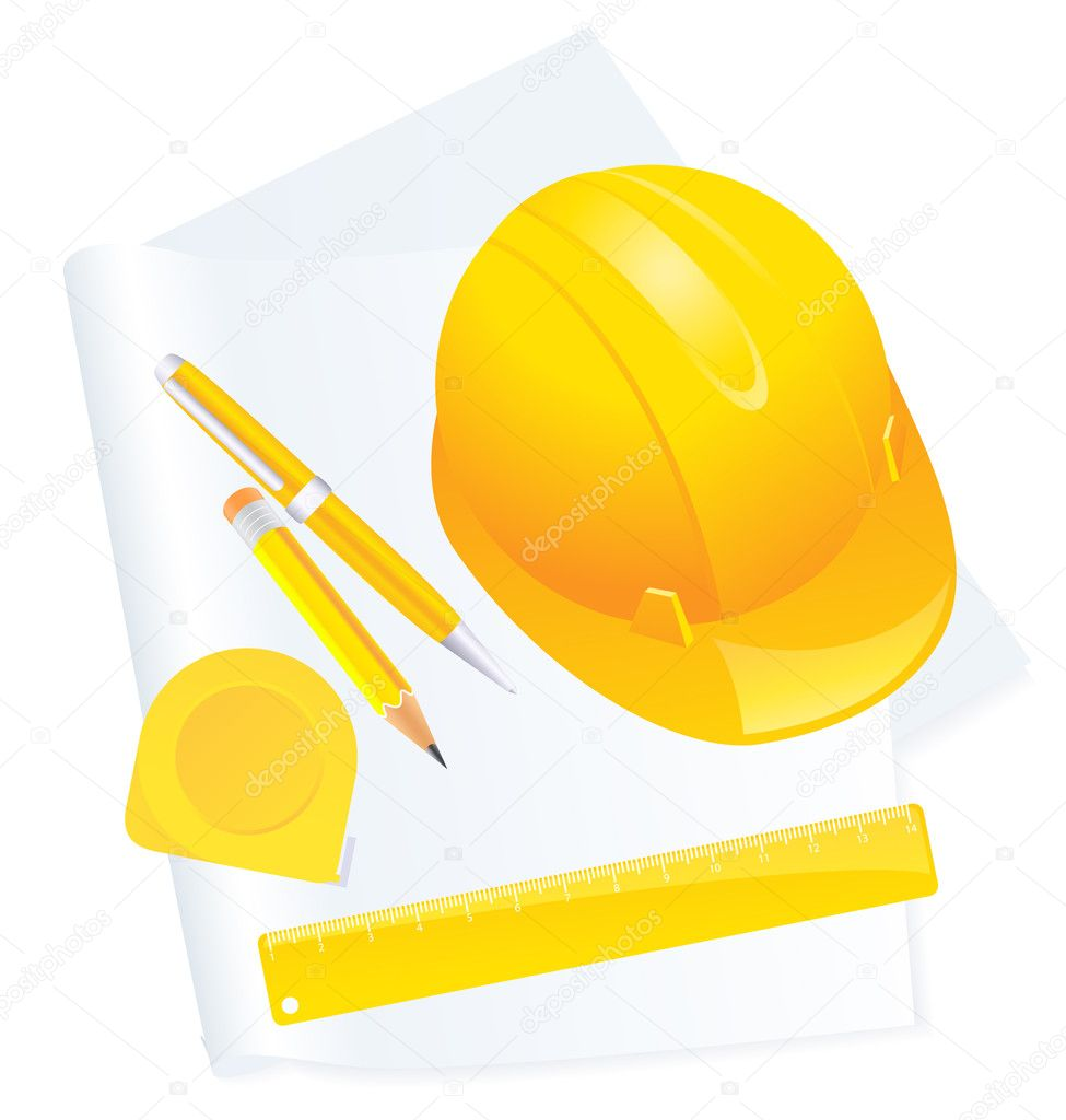 Construction background, vector illustration, EPS and AI files included — Stock Vector #3744979