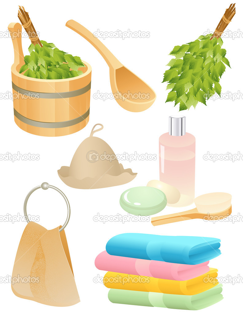 Bath accessories, vector illustration, EPS and AI files included  Stock Vector #3748685