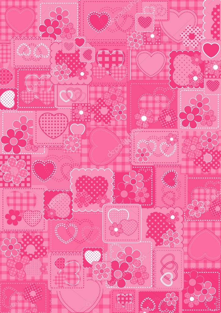 Love pink bacground, vector illustration, EPS and AI files included  Stock Vector #3749066