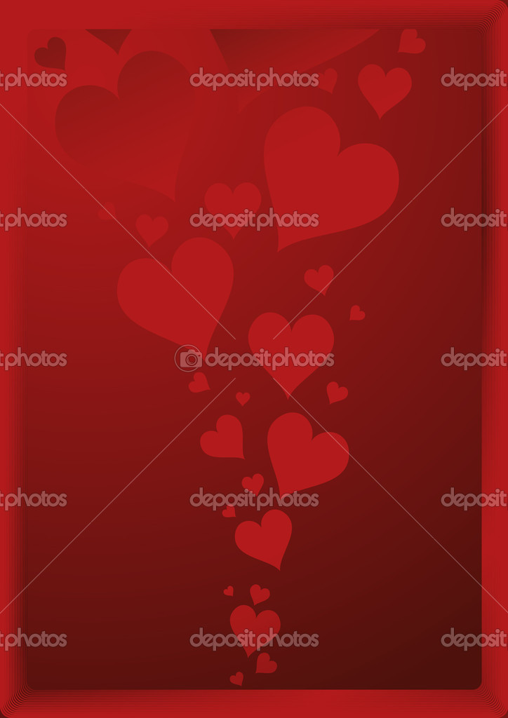 Valentines day background, vector illustration, EPS and AI files included — Vettoriali Stock  #3749102