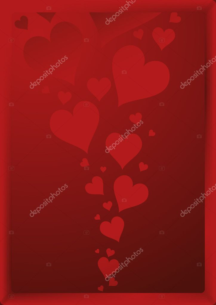 Valentines day background, vector illustration, EPS and AI files included  Stockvectorbeeld #3749102