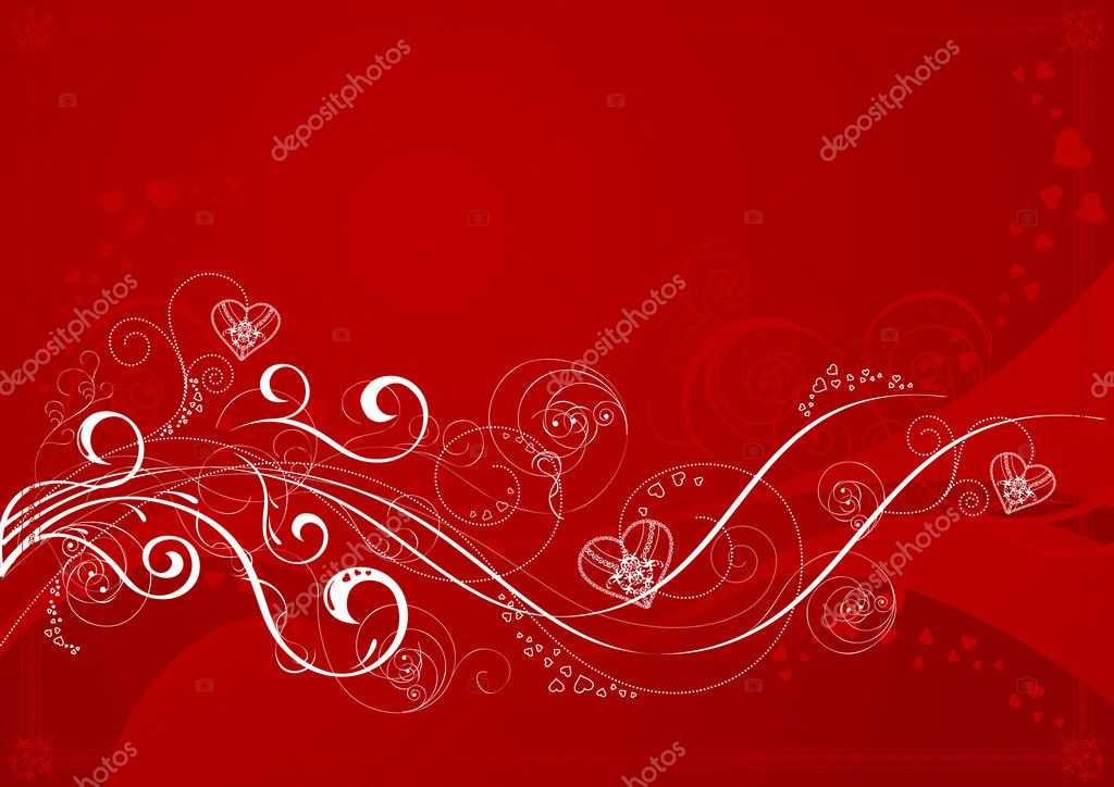 Valentines day love background, vector illustration, EPS and AI files included  Stock Vector #3749137