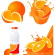 Orange products — Stock Vector