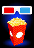 3D movie objects — Stock Vector