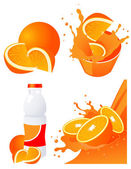Orange products — Stock Vector