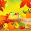 Stock Vector: Autumn abundance