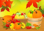 Autumn abundance — Stock Vector