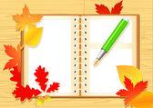 Autumn notepad — Stock Vector
