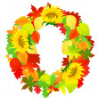 Autumn wreath, - Stock Vector