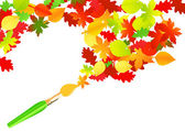 Autumn paintbrush — Stock Vector