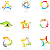 Abstract icon set - 7 — Stock Vector