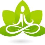 Yoga lotus icon / logo — Stock Vector