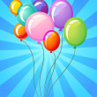 Royalty-Free Stock Vector Image: Colourful balloons