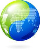 Yin Yang Earth — Stock Vector