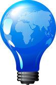 Earth bulb — Stock Vector