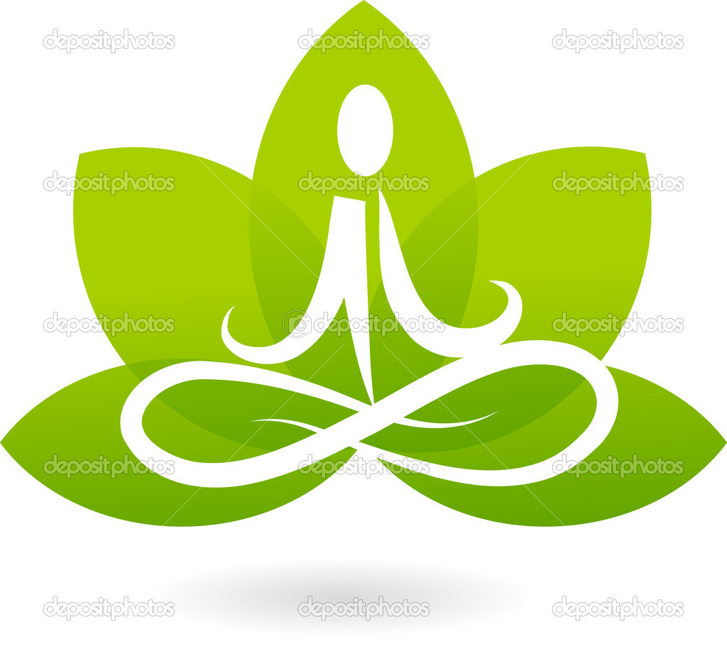 Yoga lotus icon / logo — Grafika wektorowa #2873521