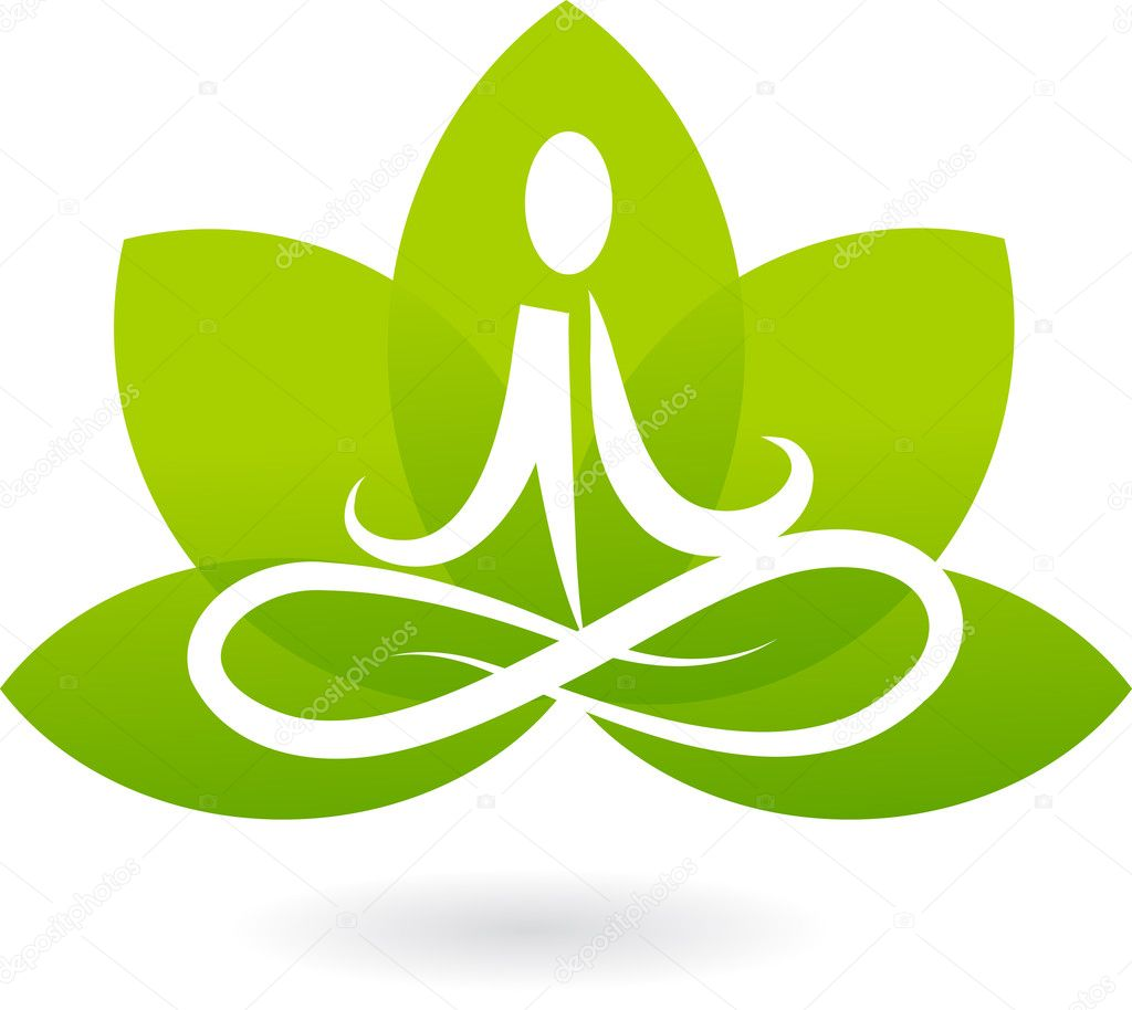 Yoga lotus icon / logo — Image vectorielle #2873521