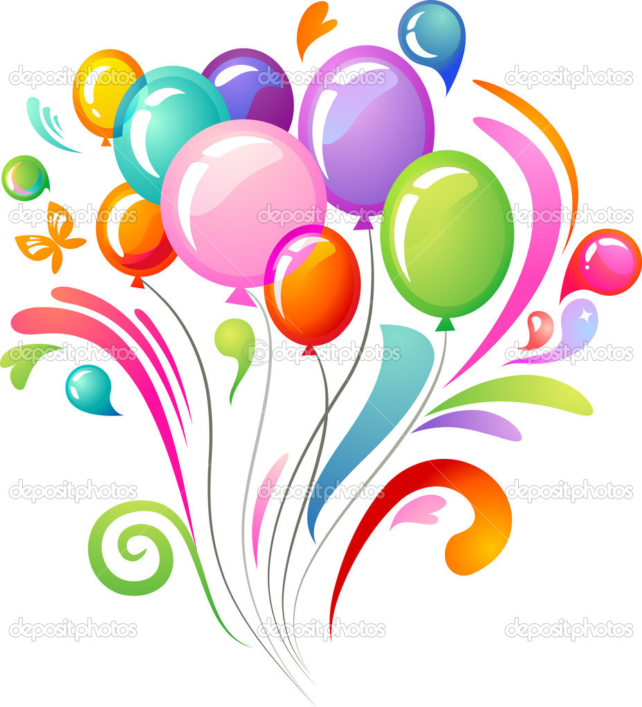 Splash background with colourful balloons — Image vectorielle #2877048
