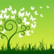 Royalty-Free Stock Vectorafbeeldingen: Butterfly tree