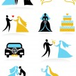 Wedding icons - 2 — Stock Vector