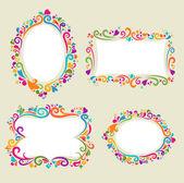 Floral frame set — Stock Vector
