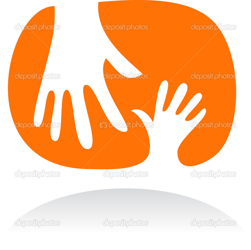 Two hands - mother and child  Stock Vector #2940391