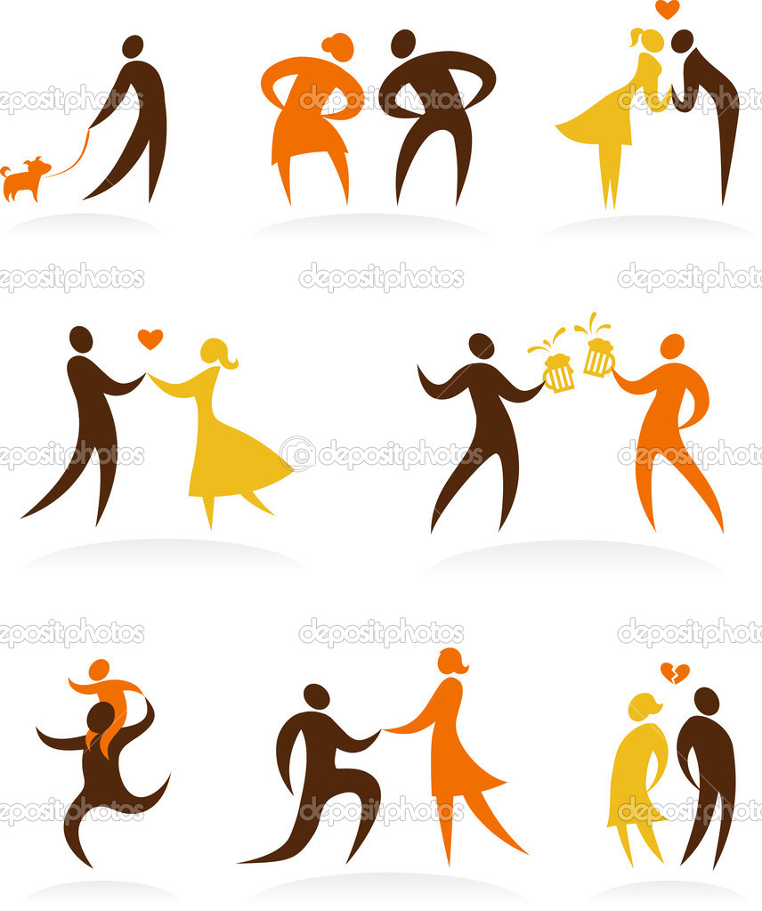 Collection of wedding dancing  icons — Stock Vector #2944599