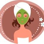 Facial mask — Stock Vector
