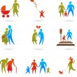 Family icons - 2 - Stock Vector