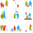 Family icons - 2 — Stock Vector