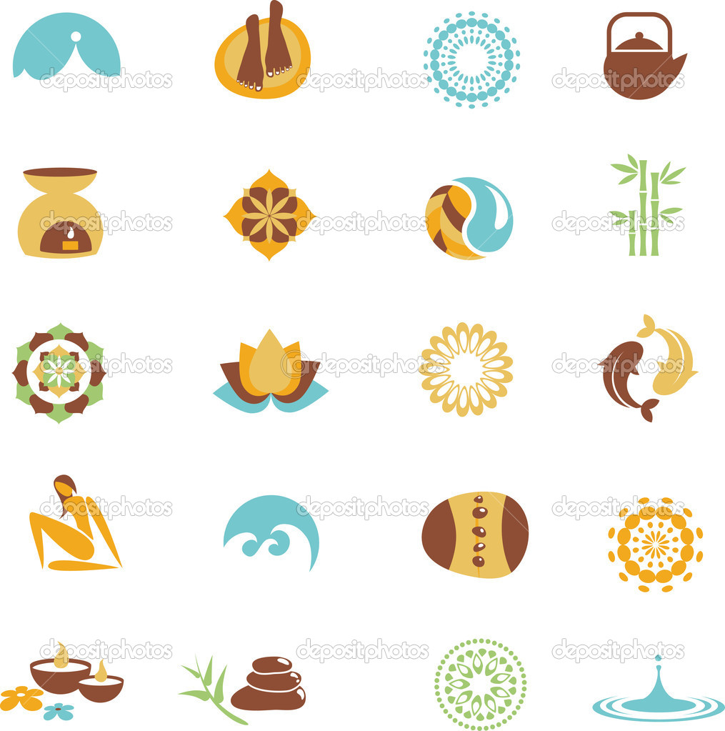 Collection of spa icons — Stock Vector #2995388