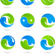 Conceptual  Yin Yang symbols - Stock Vector