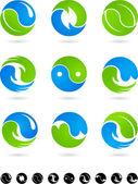 概念の yin ヤン記号 — ストックベクタ