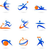 Fitness icons - 2 — Stock Vector