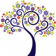 Decorative tree - 3 - Imagen vectorial