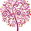 Decorative tree - 1 - Stockvectorbeeld