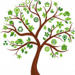 Ecological icons tree - 3 — Stock Vector
