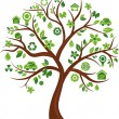 Stock Vector: Ecological icons tree - 3