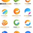 Abstract global business icons — Imagens vectoriais em stock