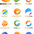 Abstract global business icons - Vektorgrafik