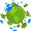 Stock Vector: Green planet
